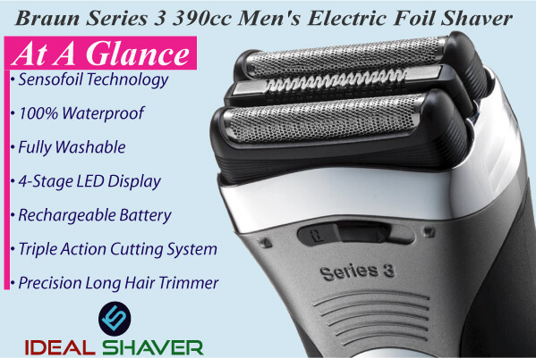 Braun Series 3 390cc electric razor for close shave