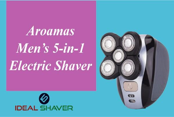 Aroamas Men's 5-in-1 Electric Shaver for older skin