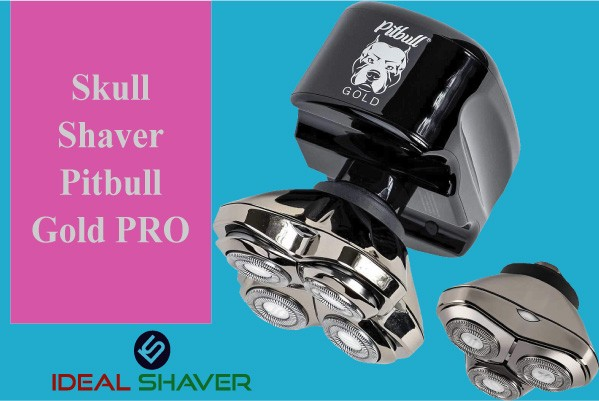Skull Shaver Pitbull Gold PRO for head shaver