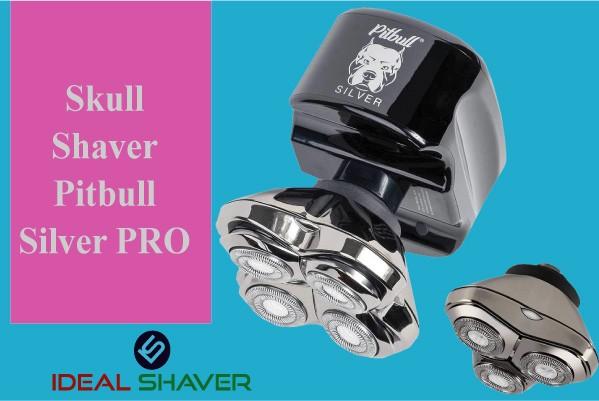 Skull Shaver Pitbull Silver PRO head shaver