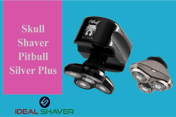 Skull Shaver Pitbull Silver Plus Electric Razor head and face shaver