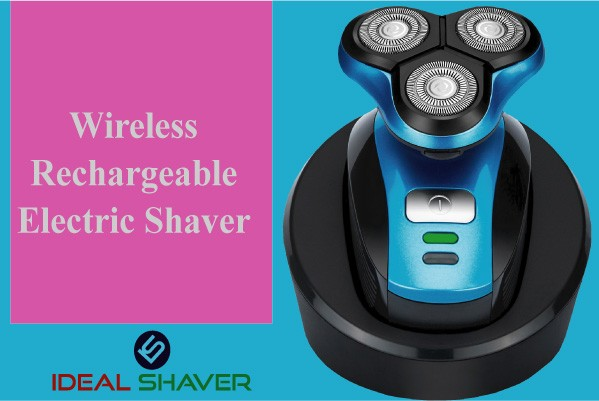 Wireless rechargeable electric shaver perfect for head & face