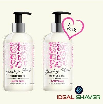 Coochy Intimate Shaving Cream MOISTURIZING Plus SWEET BLISS For Pubic, Bikini Line, Armpit - Rash-Free