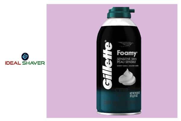 Gillette Foamy Shaving Cream for Sensitive Skin