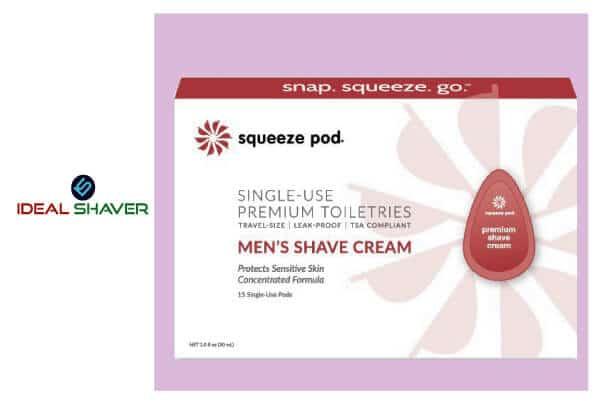Squeeze Pod Travel Mens Shaving Cream