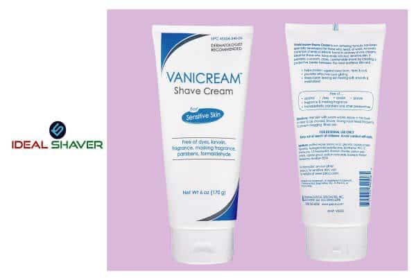 Vanicream Shave Cream - Fragrance and Gluten Free - For Sensitive Skin