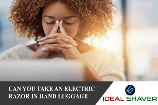 Can you take an electric razor in hand luggage